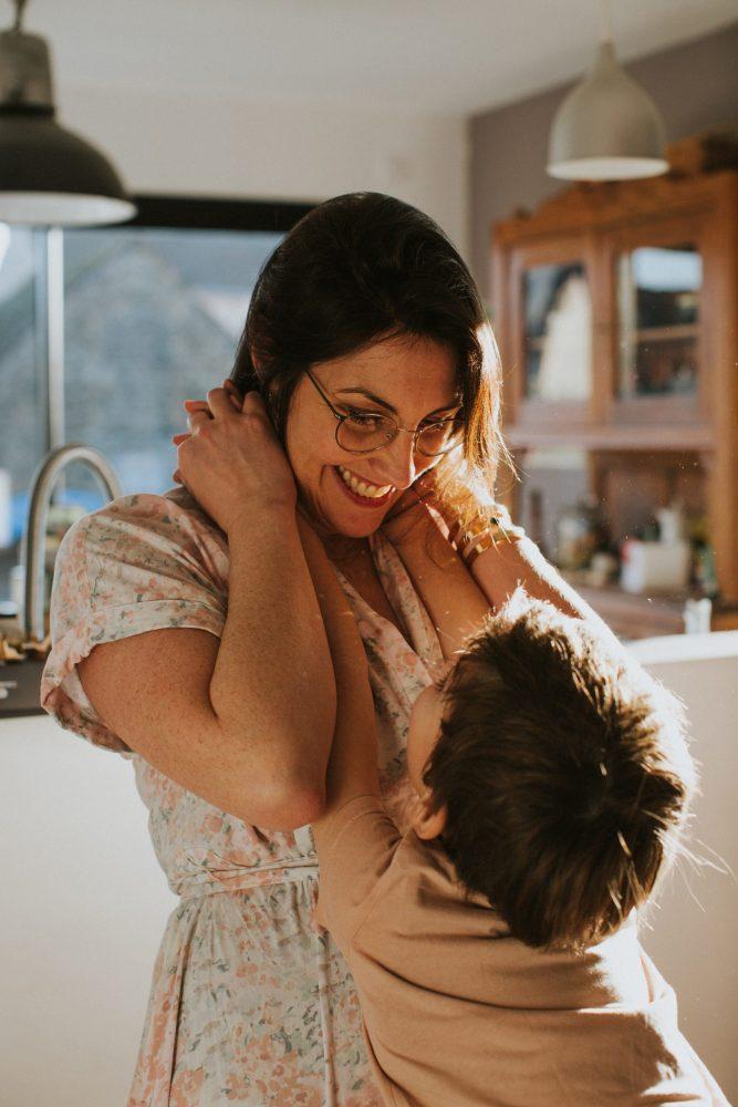 photo de maman et son enfant